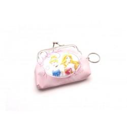 Dětská peněženka s kroužkem na klíče - princezny