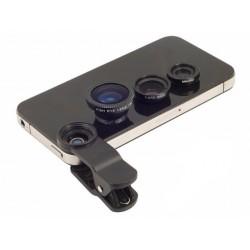 Přídavné objektivy na mobilní telefon - 3 v 1