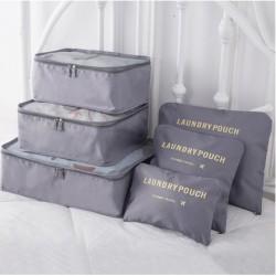 Praktické cestovní tašky a organizéry na cesty - 6 ks - šedé