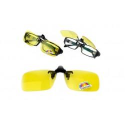 Klip na brýle s polarizovanými skly pro noční řidiče - Night View