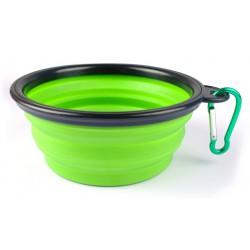Silikonová skládací miska pro psy - zelená