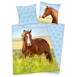 Bavlněné povlečení na jednolůžko - Kůň, freedom
