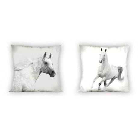 Povlak na polštářek 40x40cm - Koně černobílé, micro
