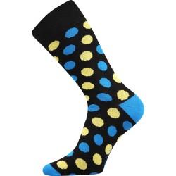 Unisex ponožky - Crazy puntíky, černé
