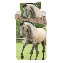 Bavlněné povlečení na jednolůžko - 140 x 200 - Kůň - Jerry Fabrics
