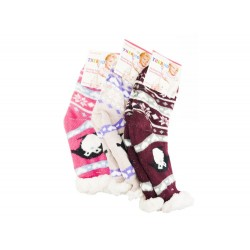 Dětské domácí extra termo ponožky s kožíškem - 1 pár