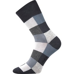 Unisex ponožky - Crazy kostky, šedé