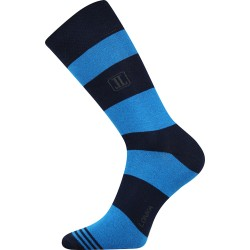 Unisex ponožky - Crazy pruhy, modré