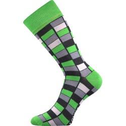 Unisex ponožky - Crazy mozaika - zelené - Lonka