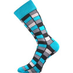 Unisex ponožky - Crazy mozaika - modré - Lonka