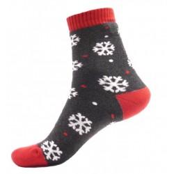 Pánské termo ponožky - Vločky - šedé
