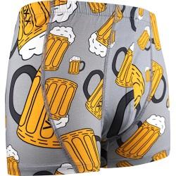 Boxerky s motivem - pivo - světle šedé