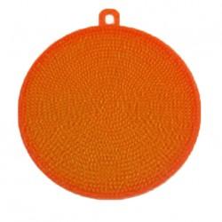 Silikonová houbička na nádobí - oranžová