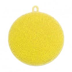 Silikonová houbička na nádobí - žlutá