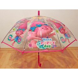 Vystřelovací průhledný deštník - Trollové Poppy