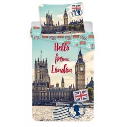 Bavlněné povlečení na jednolůžko - Hello from London - 140 x 200 - Jerry Fabrics