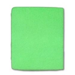 Froté prostěradlo do postýlky - zelené - 60 x 120 cm - New Baby