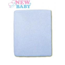 Nepromokavé prostěradlo - 120 x 60 - modré - New Baby