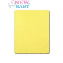 Nepromokavé prostěradlo New Baby 120x60 světle žluté