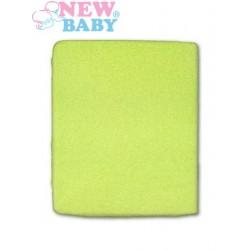 Nepromokavé prostěradlo - 120 x 60 - zelené - New Baby