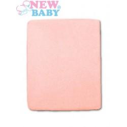 Nepromokavé prostěradlo - 120 x 60 - růžové - New Baby