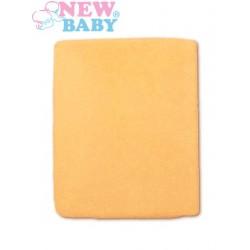 Nepromokavé prostěradlo - 120 x 60 - oranžové - New Baby