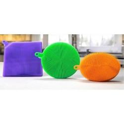 Silikonová houbička na nádobí - sada 3 ks