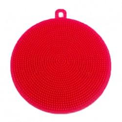 Silikonová houbička na nádobí - červená