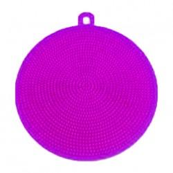 Silikonová houbička na nádobí - fialová