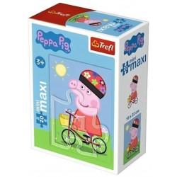 Puzzle - Peppa na kole, 20 dílků