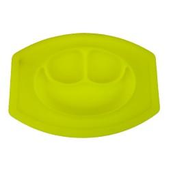 Silikonová podložka a talíř pro děti - žlutá