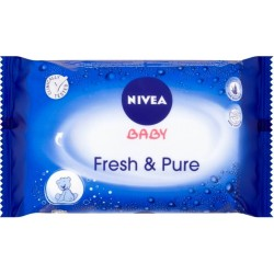 Nivea Vlhčené ubrousky - Baby Fresh & Pure, 63ks
