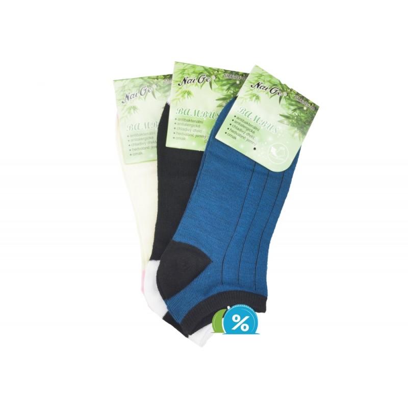 Dámské kotníkové bambusové ponožky NaiGe NW10104 - 3 páry - NAAU CZ 2747200331