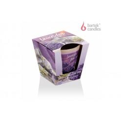 Vonná svíčka ve skle – vůně domácího levandulového mýdla 115g