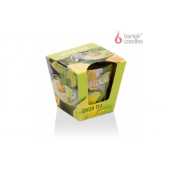 Vonná svíčka ve skle – green tea pudding mix citrus 115g