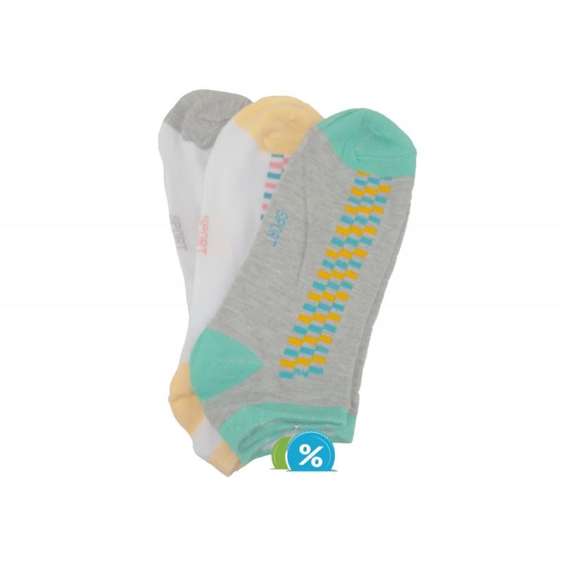Dámské kotníkové bavlněné ponožky Pesail LW081 - 3 páry - NAAU CZ 4f556b99ea