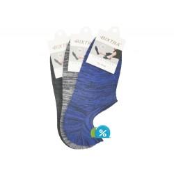 Pánské podkotníkové bavlněné ponožky Bixtra S0011 - 3 páry