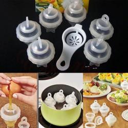 Pohár na vaření vajec - 6ks + oddělovač žloutku od bílku