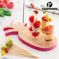 Bambusový set na jednohubky ananas TakeTokio (16 částí)