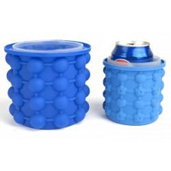 Silikonový výrobník kostek ledu a chladič nápojů - 10x10 cm