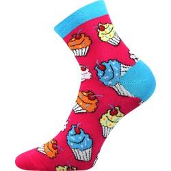 Unisex ponožky - Cupcake