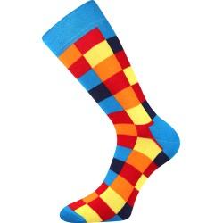 Pánské ponožky - Kostky barevné
