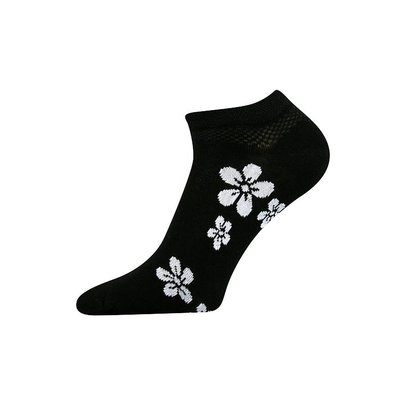 Dámské kotníkové ponožky - Kytka bílá - NAAU CZ e8fb4625da