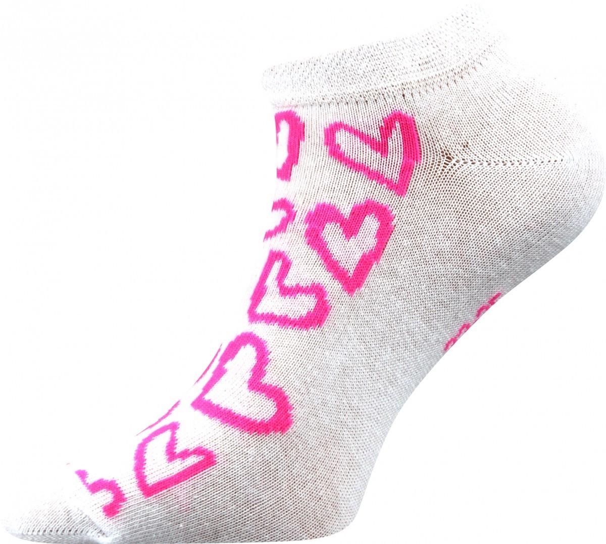 Dámské kotníkové ponožky - Srdíčka růžové - NAAU CZ cf90c6f7cf