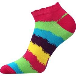 Dámské kotníkové ponožky - pruhované