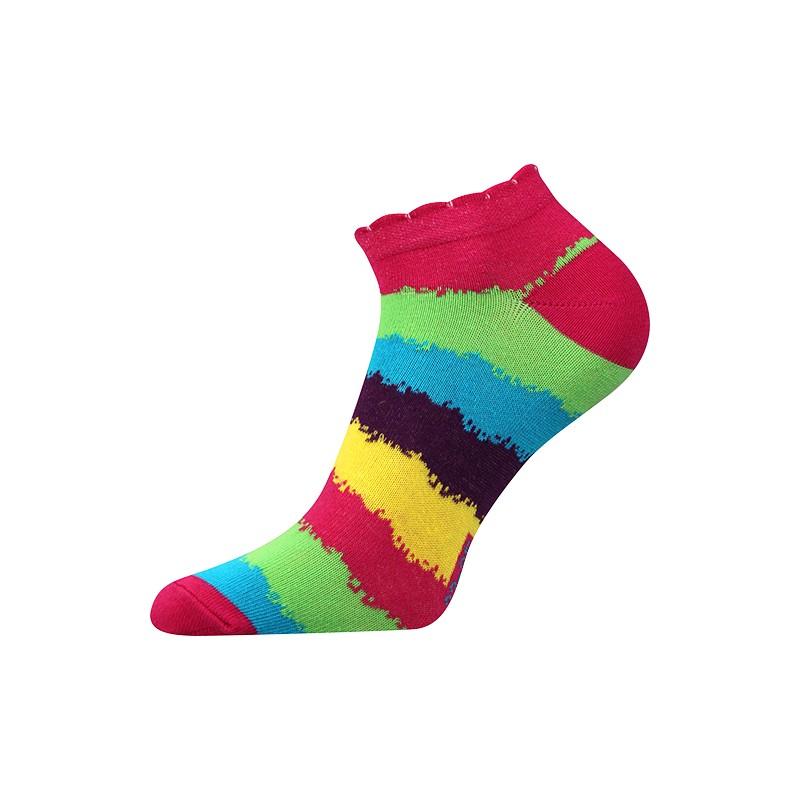Dámské kotníkové ponožky - Pruhy nízké - NAAU CZ 1c56974391