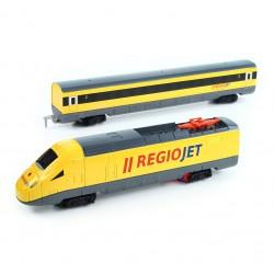 Vlak RegioJet se zvukem a světlem - sada včetně kolejí - Rappa