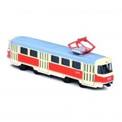 Kovová tramvaj na zpětný chod - Tatra T3 - 16 cm