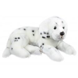 Plyšový pes Dalmatin ležící, 38 cm