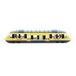 Vlak žlutý RegioJet regionální - kov/plast